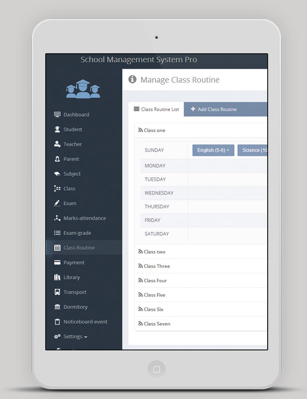 sistema de administración escolar en línea